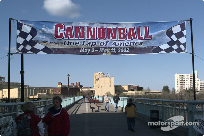 The Cannonball start line