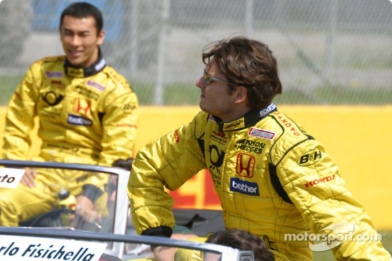 Drivers' parade: Giancarlo Fisichella