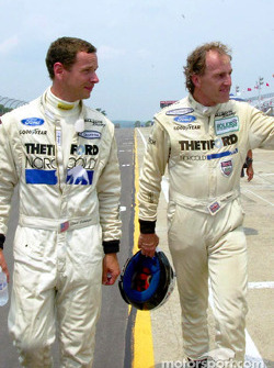 Dyson Racing teammates Butch Leitzinger (left) and James Weaver (right) will make up the front row of the grid in the 6 Hours of The Glen
