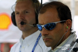 Emanuele Pirro and race engineer Hans Sauter