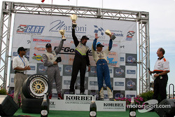 The podium: race winner Boris Said with Butch Leitzinger and Stuart Hayner