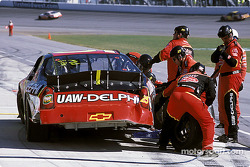 Joe Nemechek in the pits