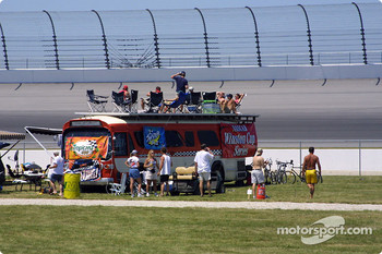 Fans in the infield