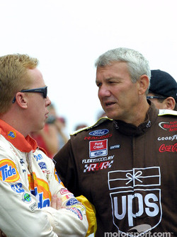Dale Jarrett and Ricky Craven