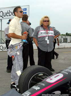 Michael Valiante and team owner Peggy Haas