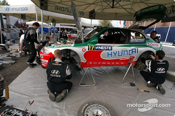Hyundai World Rally Team service area