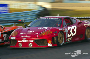 The Ferrari of Washington #33 Ferrari 360GT fights for position en route to its third-straight GT win