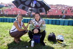 Jacques Villeneuve before the start