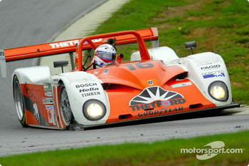 Chris Dyson weaves the #16 Judd-engined Dallara, fielded by the Dyson Racing Team, through the curves of Virginia International Raceway's 3.27-mile road course during the VIR 500