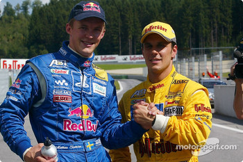 Mattias Ekstrm and pole winner Laurent Aiello