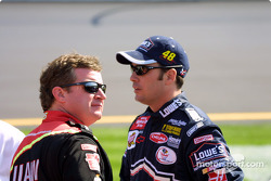 Joe Nemechek and Jimmie Johnson