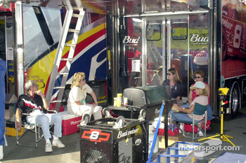 Relaxing around the hauler