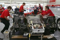 Audi paddock area