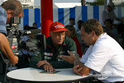 Niki Lauda and Gerhard Berger on TV