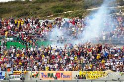Firecrackers in stands