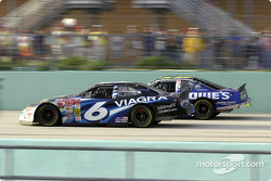 Mark Martin and Jimmie Johnson battle
