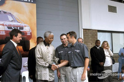 Nissan Rally Raid Team launch: Nelson Mandela and Giniel de Villiers
