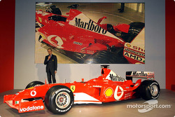 Paolo Martinelli with the new Ferrari F2003-GA