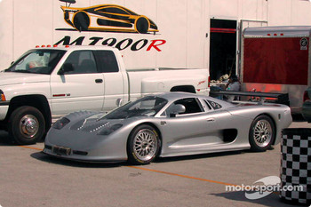 Mosler MT900 in the garage area