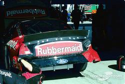 Damage on Kurt Busch's car