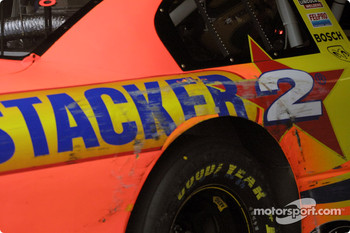 Darlington stripes on Kenny Wallace's car