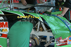 Damage on Bobby Labonte's car
