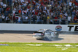 Race winner Ryan Newman celebrates