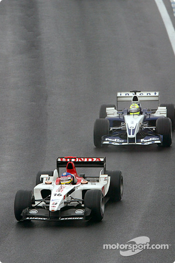 Jacques Villeneuve and Ralf Schumacher