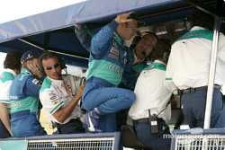 Heinz-Harald Frentzen at the pitwall