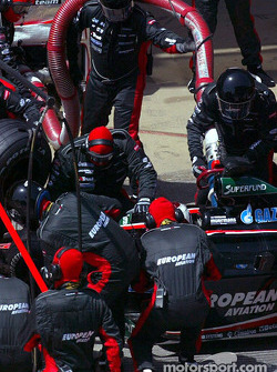 Pitstop for Jos Verstappen