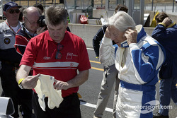 Paul Frère before the test of the Audi R8