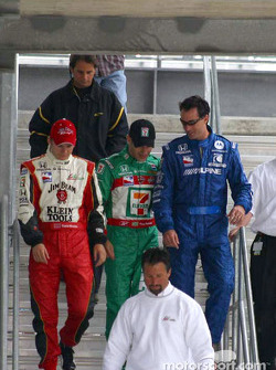 Dan Wheldon, Tony Kanaan, Bryan Herta and Michael Andretti