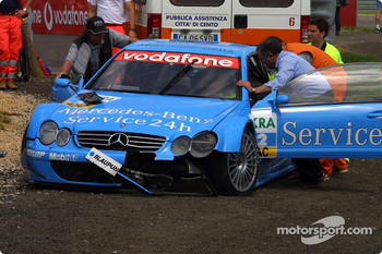 Stefan Mcke's damaged car