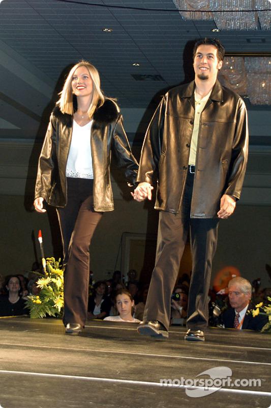 Sam Hornish Jr. and fiancée Crystal Leighty