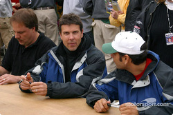 Autograph session: Johnny Miller, Scott Pruett and Tomy Drissi
