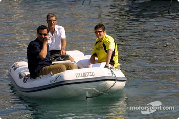 Giancarlo Fisichella on a boat