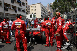 Team Ferrari on the starting grid