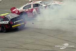 Casey Mears and Greg Biffle tangle