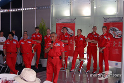 Team Marlboro Peugeot Total press conference