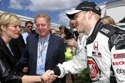 Jacques Villeneuve meets Québec Premier Jean Charest and his wife