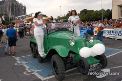 Vintage cars parade