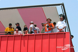 Fans await the start of the Grand American 400.