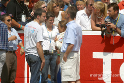 Vanina Ickx and dad Jacky at the pitwall
