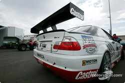 Boris Said's car waits in line for technical inspection