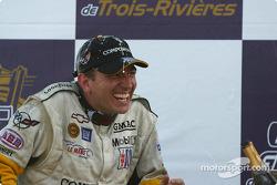 GTS podium: champagne for Oliver Gavin