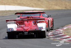 The #27 Doran Lista Racing Dallara MG hot on the tail of one of the Prodrive Ferrari 550 Maranello's