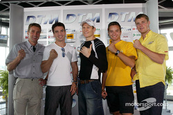 DTM vs boxing event: Bernd Schneider, Markus Beyer, Danny Green, Timo Scheider and Martin Tomczyk