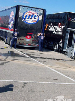 Rusty Wallace's day has ended