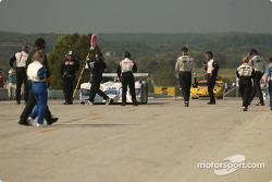 Race winner #38 Champion Racing Audi R8: J.J. Lehto, Johnny Herbert