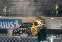 Elliott Sadler into the wall